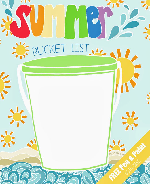 Pen and Paint Summer Bucket List