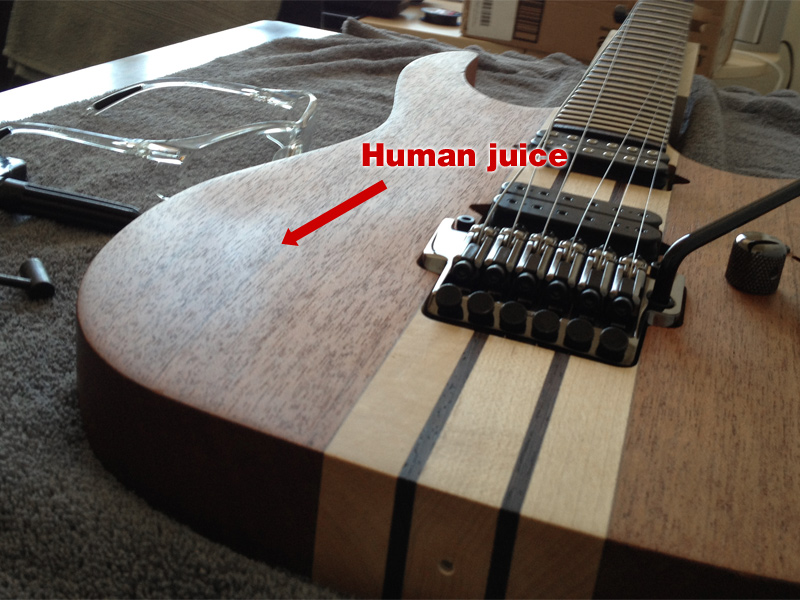 Cleaning Arm Oil Off A Natural Finish Guitar