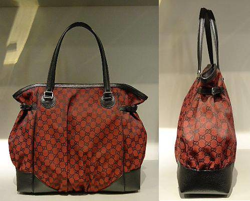 4.)  $468.30 Red and Black GG Canvas Full Moon Tote