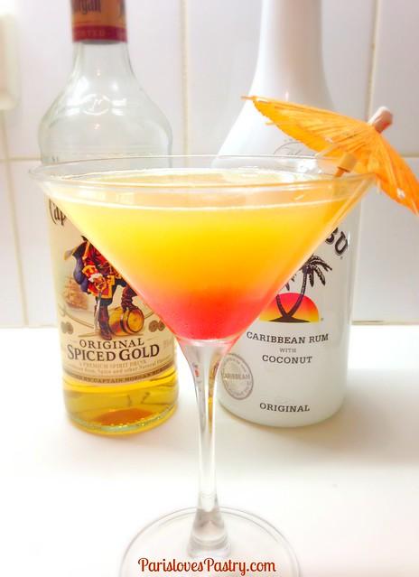 加勒比朗姆酒鸡尾酒
