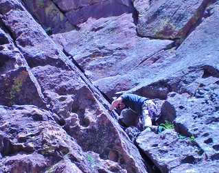 David Climbing at Whale's Tail