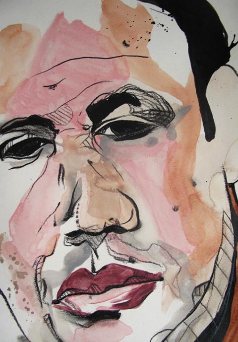 Slikor, Mixed media painting, Untitled (Study 1)