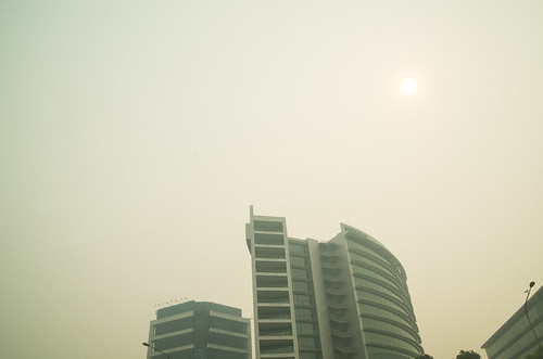 Even the sun is smoked out, trying to shine through the haze with a PSI of 400.