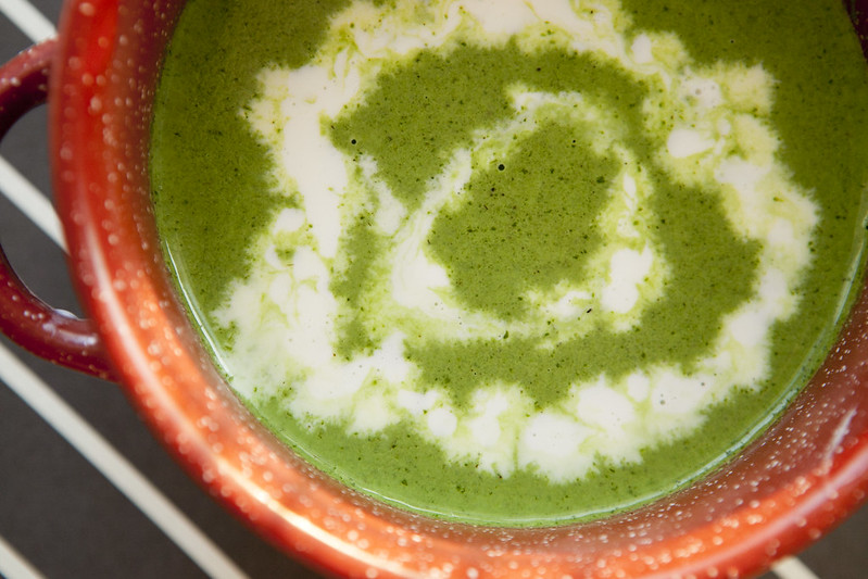 Creamy Lettuce Soup is a delicious recipe that uses 1 head of lettuce. Combined with heavy cream, chicken broth and spices, this is a great way to use your garden lettuce!