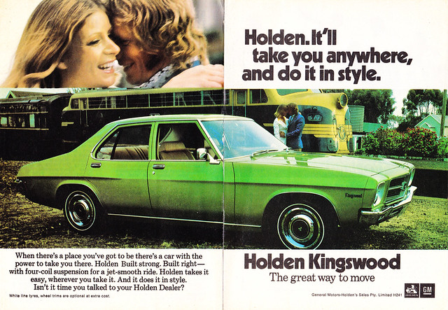 1973 HQ Holden Kingswood Sedan 2 Page Aussie Original Magazine Advertisemet