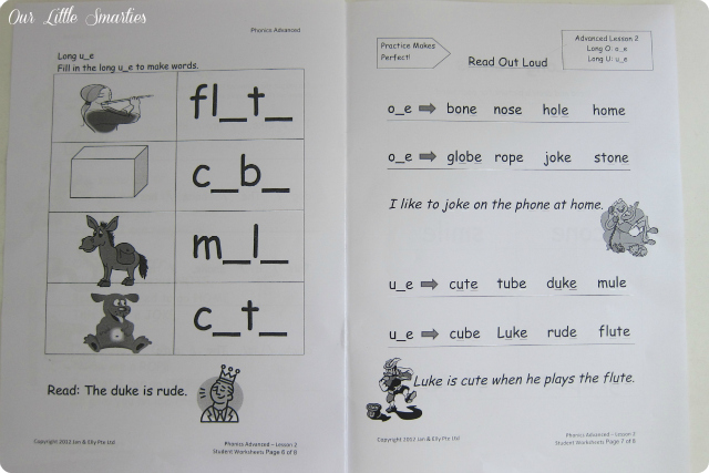 Phonics Worksheets from Jan & Elly