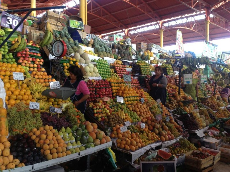 Fruit stalls at San Camilo market
