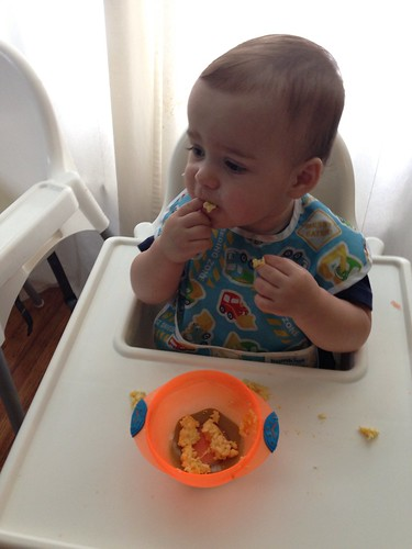 Elliott Eating Scrambled Eggs