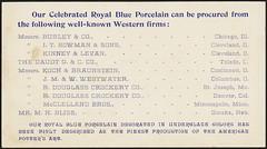 Royal blue porcelain. International Pottery Co. Burgess & Campbell, Trenton, N. J. (back)