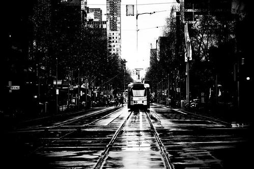 Swanston St Tram