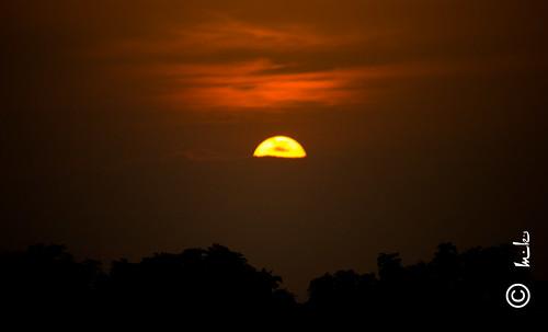 light sunset sky sun canon swarnjayantipark