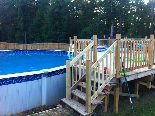 30 39 ag pool deck build w pics for Build your own pool deck