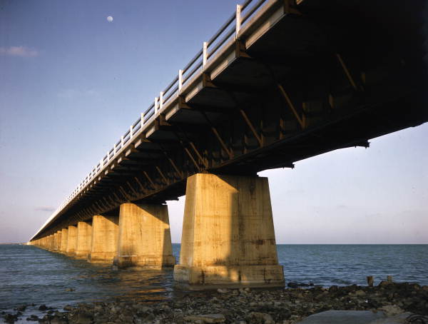 Overseas Highway bridge in the Florida Keys