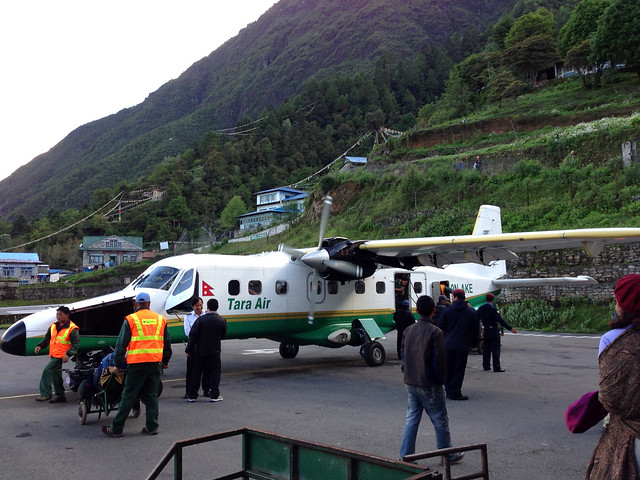 leaving Lukla
