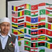 Ustaz Muin and the flags