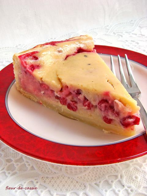 брусничный пирог с яблочным кремом 2