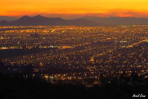 Atardecer en Santiago - Bosque el Panul