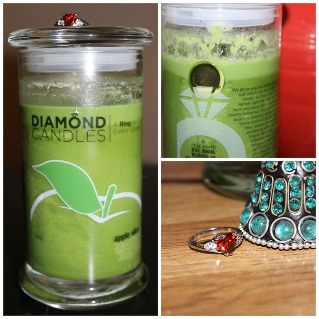 Diamond Candles Collage
