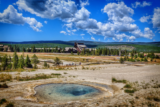 Old Faithful Inn and Upper Geyser Basin