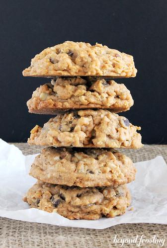 Oatmeal Pumpkin Spice Pudding Cookies   beyondfrosting.com   #pumpkin #cookies #puddingcookies