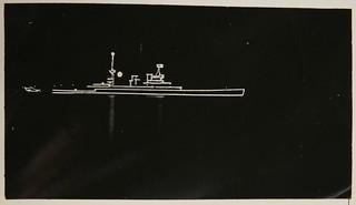 HMAS AUSTRALIA I outlined with lights