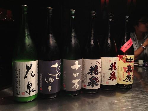 この日飲んだ日本酒たち。@吟花