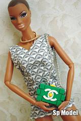 Cute Chanel Lego clutch for 12 inch fashion dolls