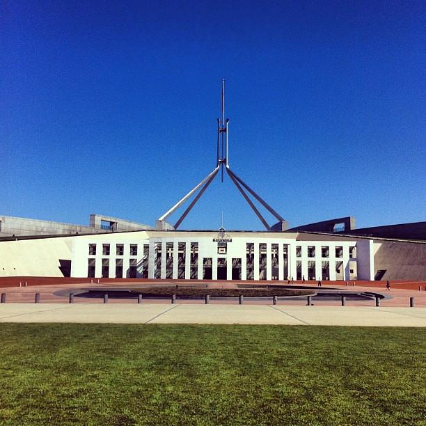 Parliament #australia #canberra #act #architecture #modernism #modern