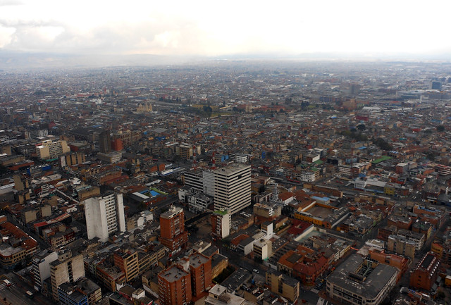 Bogota observation deck views