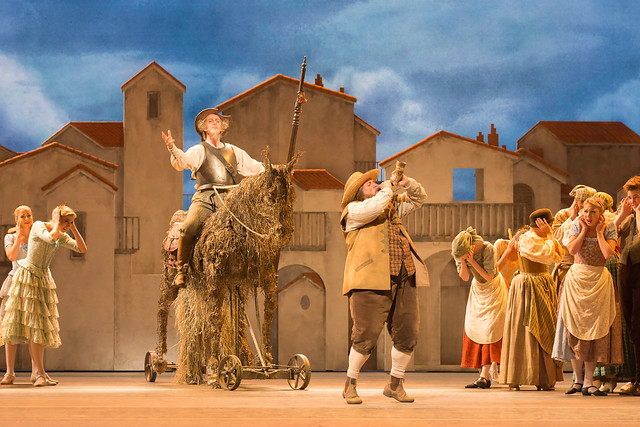 Christopher Saunders as Don Quixote, Philip Moseley as Sancho Panza and Members of The Royal Ballet in Don Quixote © ROH / Johan Persson 2013