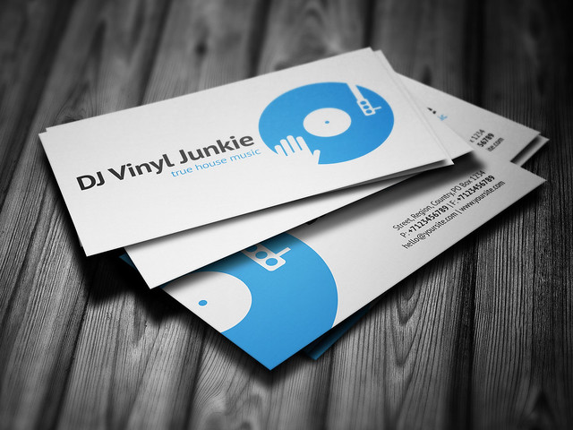 Vinyl dj business card template design4dj promotional print vinyl dj business card template flashek Images