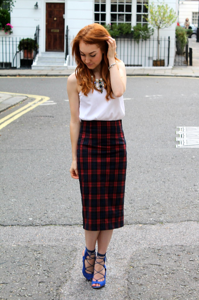 Zara Tartan Skirt (5)
