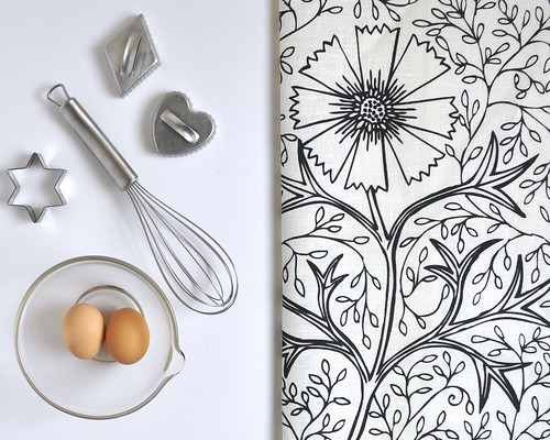 Filigree tea towels