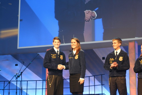Chelsey Scholsnagle of the Collins FFA chapter.