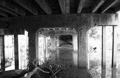 Old Galveston Rd Bridge over Old Sims Bayou Channel, Houston, Texas 1311071010BW