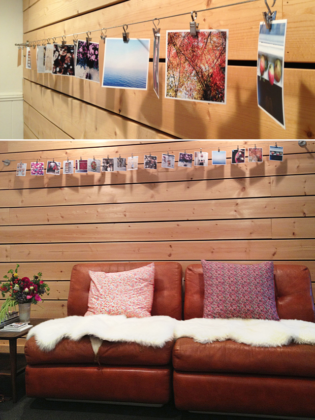 aran goyoaga studio, instagram pictures, instagram pictures printed, instagram picture wall display, cute studio, seattle art studio, food stylist studio, blogshop, blogshop seattle