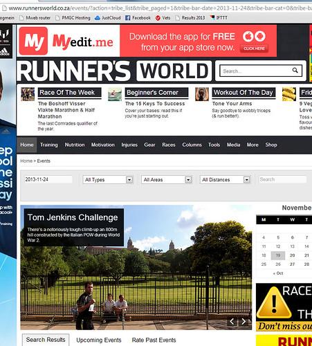 On runner's world website