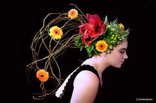 lady with the flower head