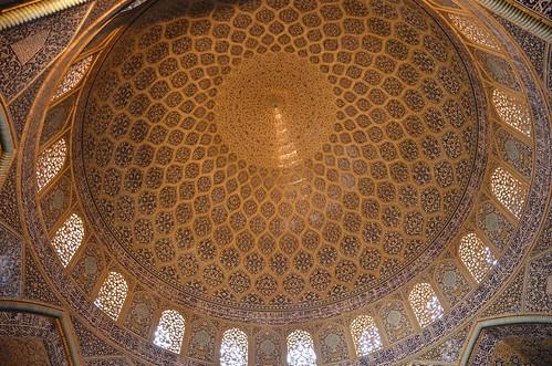 Interior de la cúpula del Jeque Lotfallah (Irán)