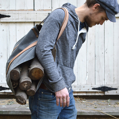Shanty Man Log Carrier by Peg & Awl, Luxury Camping Gear
