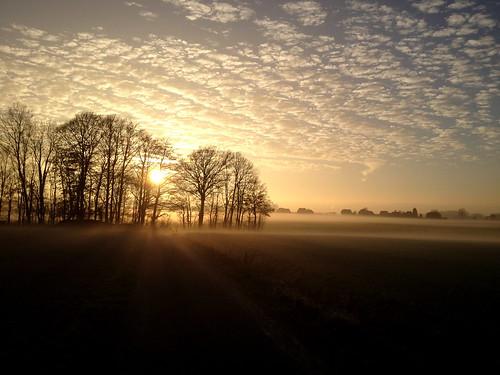 winter sunset sky fog germany landscape deutschland europa europe sonnenuntergang nebel himmel schaumburg landschaft iphone niedersachsen 2013