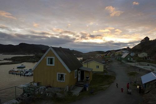 Evening in Manitsoq, Picture Postcard