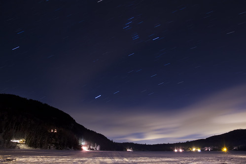 Cottage Startrails by Scerakor