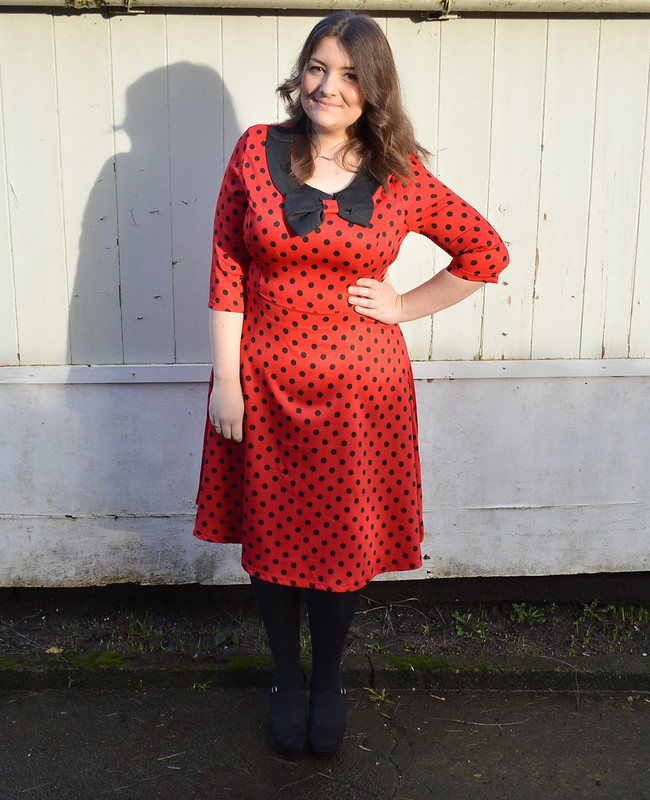 This is a picture of a red Lindy Bop Cassy dress