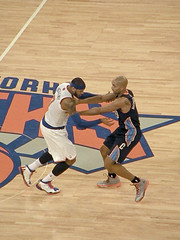 Carmelo Anthony and Gerald Henderson Look Like a WR and DB