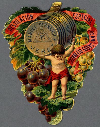 027- Etiquetas de bebidas. Niños y ángeles -1890 - 1920 - Biblioteca Digital Hispánica