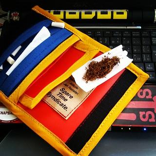 オーダーメイド巻きタバコケースの使用例