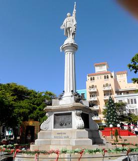 Image of  Cristóbal Colón. plaza cruise statue puertorico sanjuan caribbean christophercolumbus colon 2014 cristobalcolon
