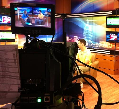 HR Josh on live TV.