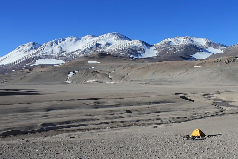 Camp between Pissis and Corona del Inca